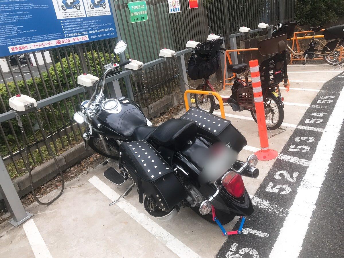 バイク駐輪場の停め方