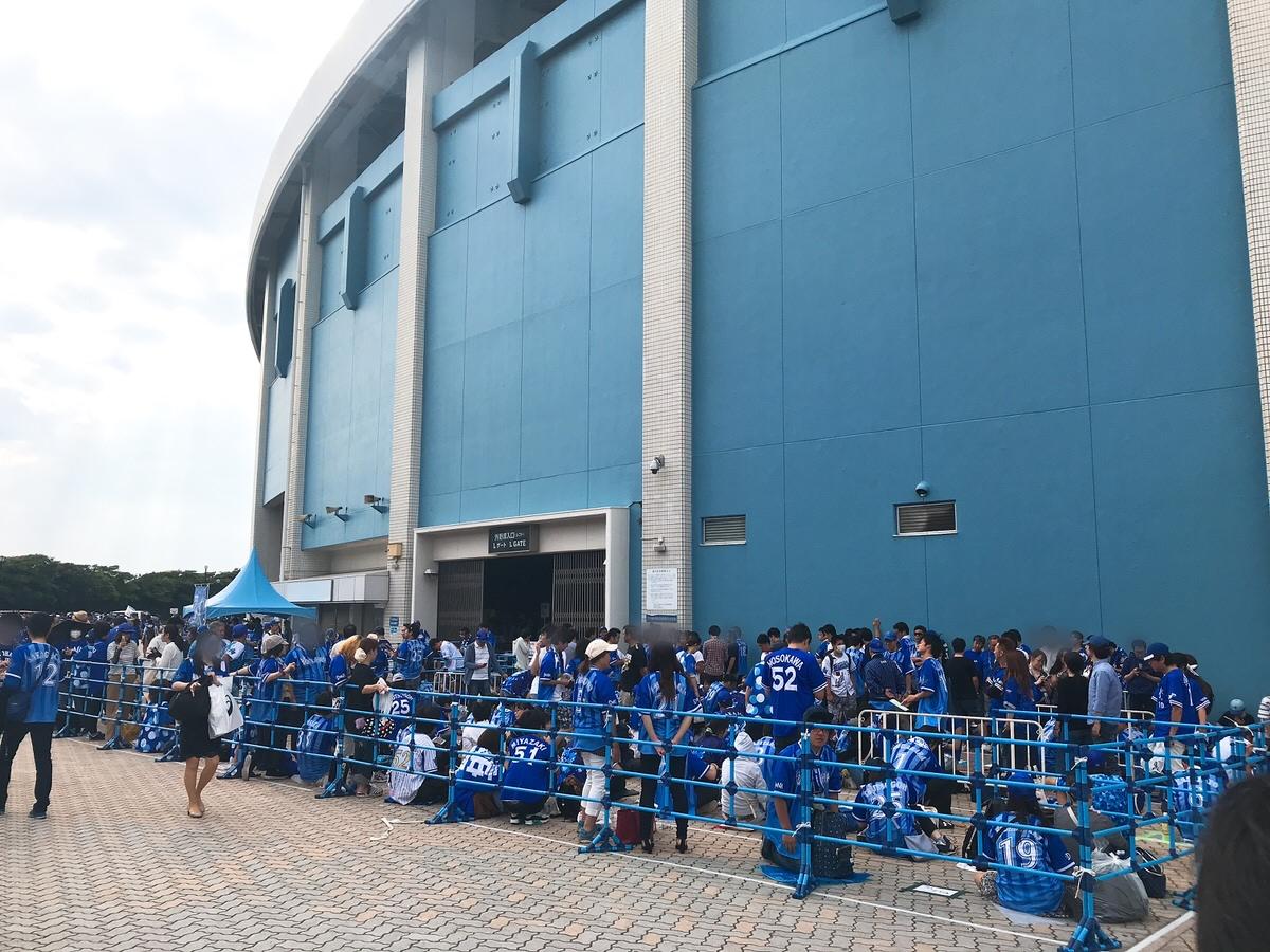 ZOZOマリンスタジアム・レフト外野ビジター応援席の混雑状況