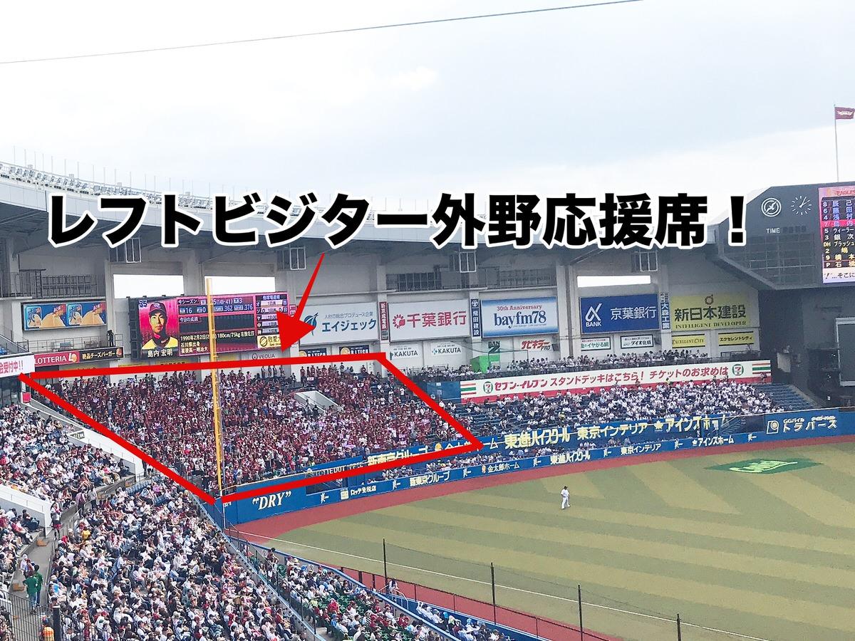 ZOZOマリンスタジアム・レフト外野ビジター応援席