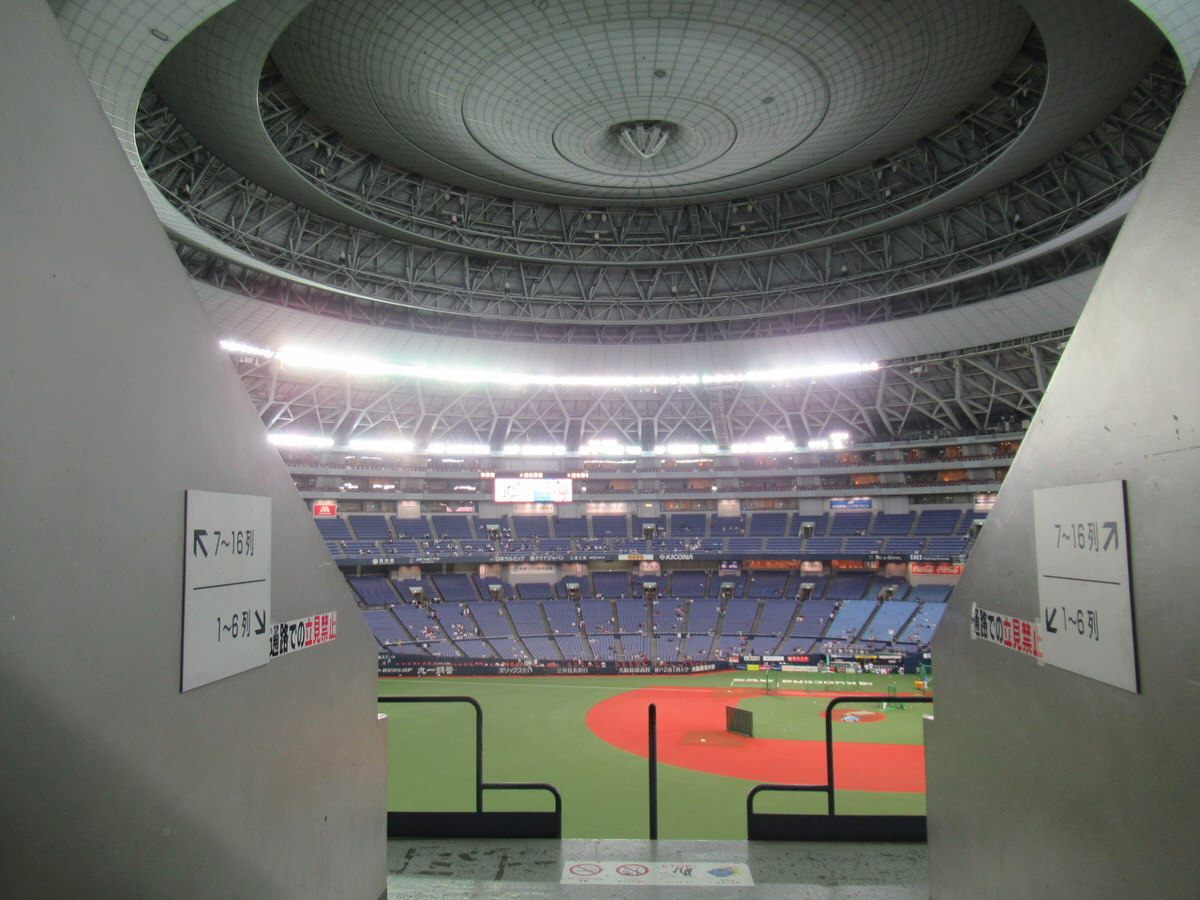 大阪ドームビジター外野上段応援席からの景色・様子
