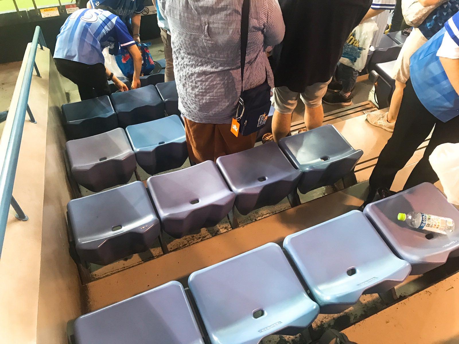 大阪ドーム外野席座席の様子・間隔・狭い