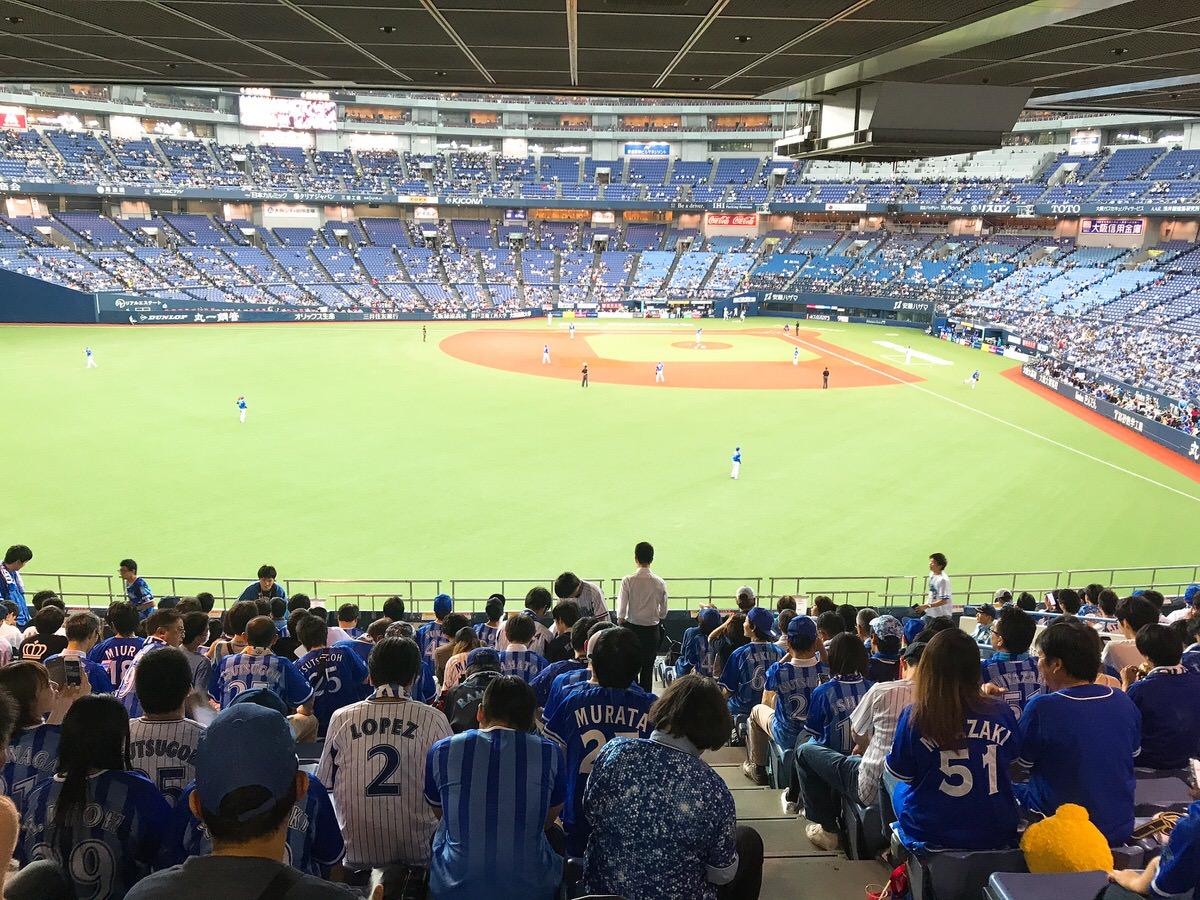 大阪ドーム下段レフト側外野席からの景色・様子・見やすさ・最上段の席