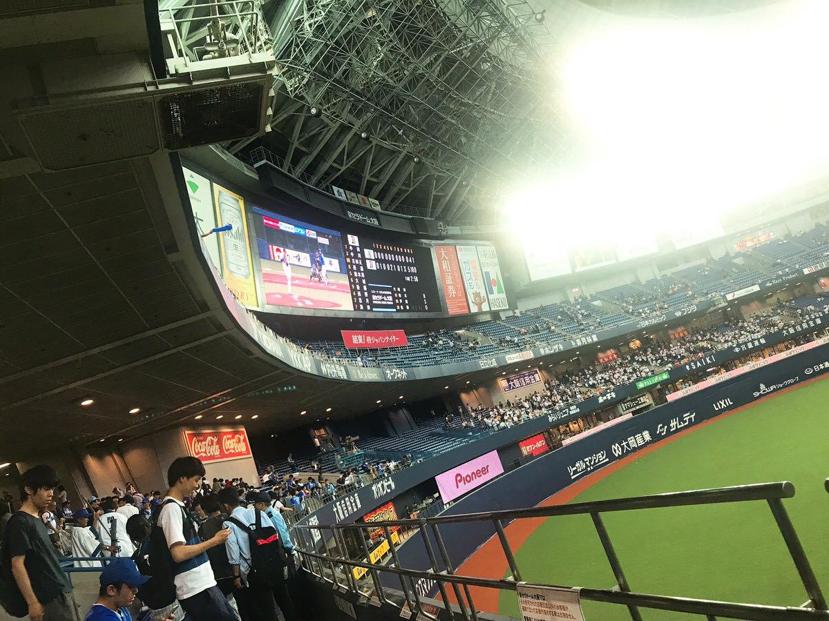 大阪ドーム外野席座席からの景色・様子・見やすさ・バックスクリーン見える?