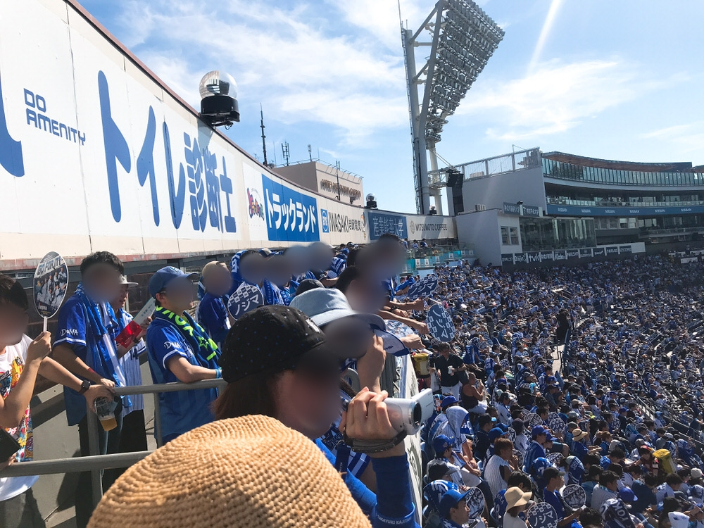 横浜スタジアム内野立ち見席の様子2