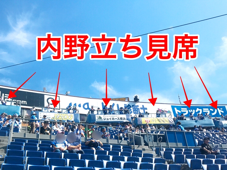 横浜スタジアム内野立ち見席の場所取り,並び,混雑状況3