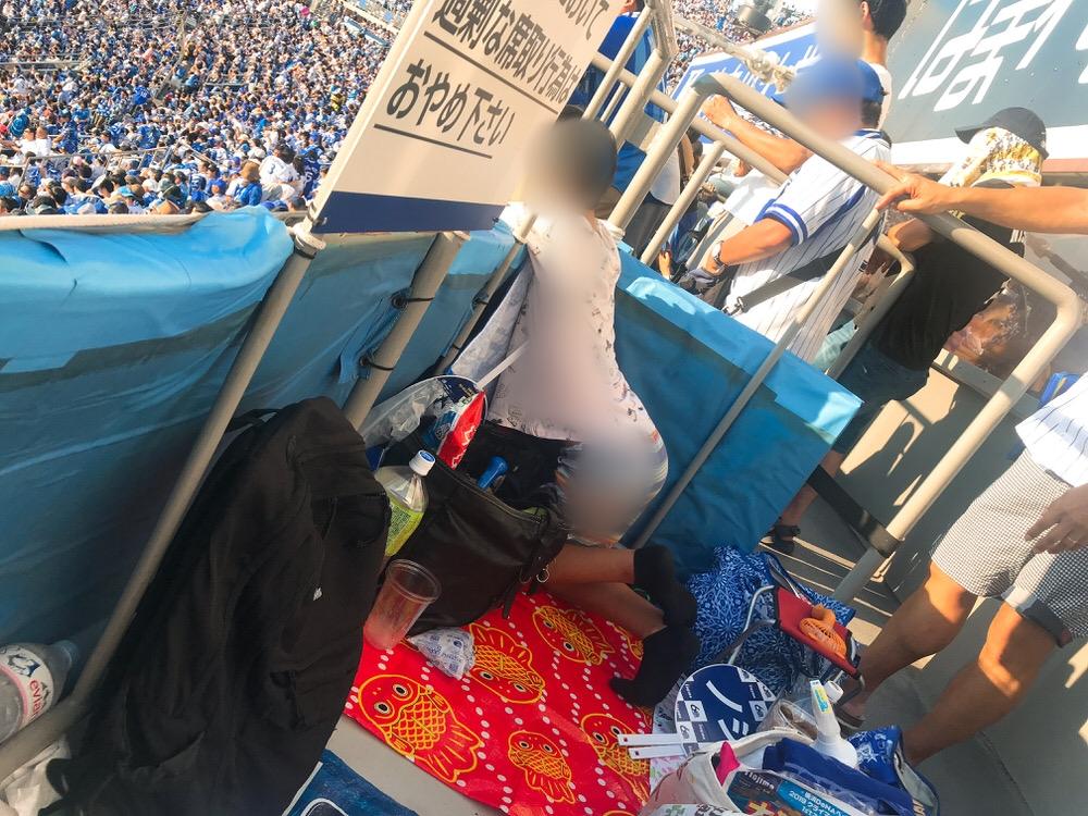 横浜スタジアム内野立ち見席の様子
