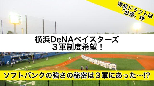 横浜DeNAベイスターズ3軍制度希望!育成ドラフトは浪漫枠
