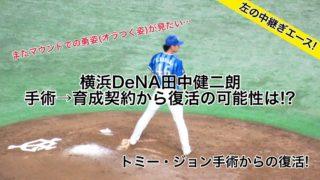横浜DeNA田中健二朗,手術→育成契約から復活可能性は!?ベイスターズ功労者