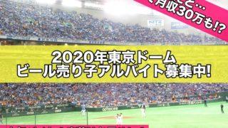 2020年東京ドームビール売り子アルバイト募集中!歩合で月収30万も!?時給だと…